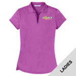 L576 - B322E001 - EMB - Ladies Heather Polo